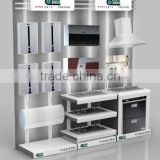 2014 new products cheap custom OEM MDF advertising home appliance display stand for stores