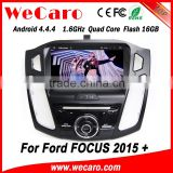 Wecaro WC-FF8088 Android 4.4.4 car dvd player HD radio cassette for ford focus 2 2015 bluetooth