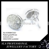 good micropave setting amazing gypsy earring jewelry for party or gift weight 2.1g punk gothic earring for men