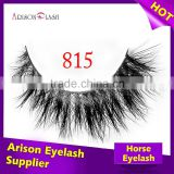 Private label 100% horse lashes real horse fur strip eyelashes, private label eyelash packaging                                                                         Quality Choice