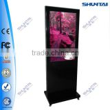 42 inch indoor advertising interactive new products promotion display stand free standing video display kiosk lcd ad display