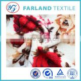 China textile city printed flannel fleece fabric,100%polyester velour velvet fabric