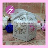 High quality wedding favors cake boxes laser cut baby shower favor box gift box TH-62