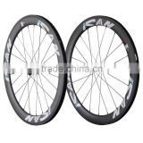 56mm clincher carbon bicycle wheels 27mm width road bike wheelset R13 hubs Sapim CX-Ray spokes 56C