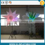 illuminated multi-function beautiful white Inflatable Tripod led flower star for party event decoration