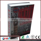 Gold supplier china small book safe with key lock