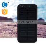 High quality Outdoor solar mobile charger/solar power bank 4000mah charging fast power bank