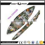 New Conger from Ningbo Cool Kayak Supplier sit-on top plastic kayak for fishing can install motor