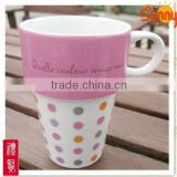 V Shaped Big Mouth 150ml ceramic coffee mug