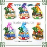 2015 New Stytle Sailing Boat Polyresin Souvenir Magnet