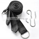 2X 3M Strong Strap Bandage Belt Hammock Tree Straps Tying Hanging Straps Rope with Hook