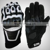 Motocross Biker Gloves WIth Full grain genuine leather knuckle protection, TPU protections at Fingers