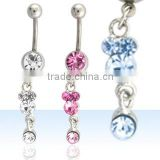 Navel jewelry, belly ring, dangling body jewellery, body piercing, belly jewellery, belly button ring, belly body jewelry