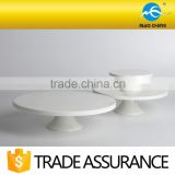 delicate white durable ceramic cake stand