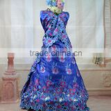 Elegant George silk wrappers 2015 /silk George party dress with beautiful followers
