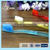 wholesale transparent travel toothbrush/travel set toothbrush