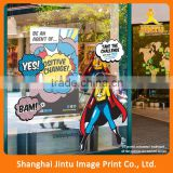 UV printed 3m removable vinyl sticker for window advertising