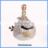 Wholesale New Design Gold Rhinestone Bird Pendant For Necklace MP-006