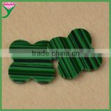 Low sale high quality semi-precious stone rough four leaf clover flower genuine green malachite price