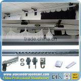 Curtain rail runner, Aluminum electric curved motor 6-30m curtain track with reomte control