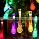 LED Water Drop Solar String Fairy Waterproof Lights Christmas Lights Solar Powered String lights for Garden