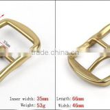 High quality suspender brass metal adjustable buckle with nickle free plating