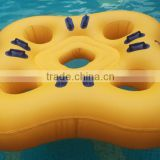 water slide raft, water tube slides, four persons water park inflatable water slide tube