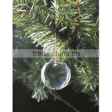 man-made round crystal hanging ornament for Christmas treee decorations(R-0854)