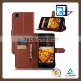 new products wallet leather with card slots stand flip cover for ZTE Max N9520 phone case china price