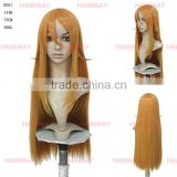 High quality chinese hair ombr shop online in china long straight yellow synthetic women hair wig