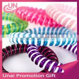 Mix Colors Wholesale Telephone Wire Line Hair Gum for hair bands spring scrunly free shipping