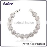 2016 Elegant Bright Zircon Stars Charm Women Party Bracelet Wholesale ZTTM-B-2013081201