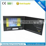 CE/RoHS 7inch TFT LCD Video Card Booklet Digital Video Brochure for Advertising Marketing