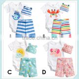 summer baby suits short sleeve Triangle Romper climbing clothes leotard newborn cartoon's clothing