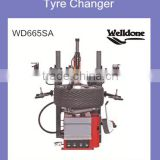 Hot sale pneumatic operated tilting column tyre changer with double helper arm,good price tyre changer