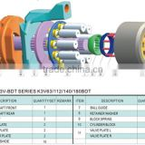 hydraulic pump parts kobelco