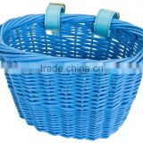 FRONT BICYCLE BIKE BASKET MINI WILLOW WICKER BASKET BLUE