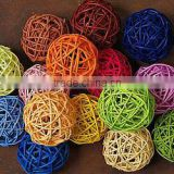 willow &wicker garden ball garden decoration different colors
