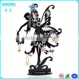 Hot laser engraving beautiful dancing girl shaped Acrylic Earring Display Stand Holder 72holes