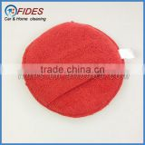 car microfiber wax applicator round car microfiber sponge