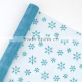 Printing organza fabric roll flower wrapping gift packing floral wrapping organza roll
