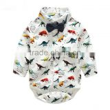 Wholesale baby boys clothes bow tie dinosaur shirt jumpsuit kids rompers