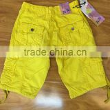 OEM service fashion boys children cargo shorts with pocket