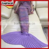 2017 New Arrival Hotsale Adult Knitted mermaid tail Blanket