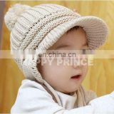 Baby crochet beanie hat with tail