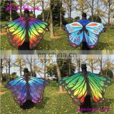 Latest Design Butterfly Wings Fairy Printed Chiffon Shawl Scarf