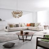 Italian Living Room Furniture Imported Hot Fabric Modern Design Sofa