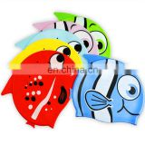 Silicone Cartoon Swimming Caps for Kids