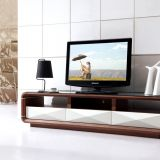 New design Wooden+Glass TV Stand