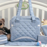 waterproof quilted diaper bag with long shoulder